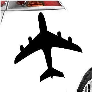 Flugzeug 11 x 11 cm IN 15 FARBEN   Neon + Chrom! Sticker Aufkleber