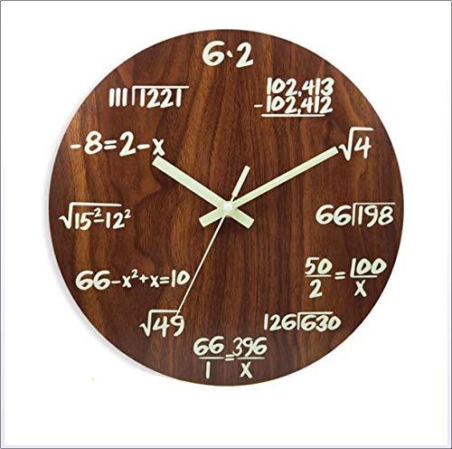 JOK Reloj de pared nórdico simple y creativo luminoso, adecuado para sala de estar, dormitorio, estudio, oficina, B