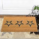 Delindo Lifestyle Kokos Fussmatte Sterne, Tür Fußabtreter für Innenbereich, 40x60 cm, besonders strapazierfähig - 3