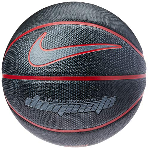 Nike Erwachsene Dominate 8P Basketball, Black/University red/Cool Grey, 7