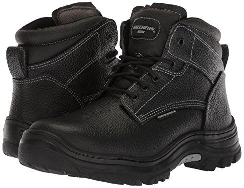 Skechers for Work Men's Burgin-Tarlac Industrial Boot,black embossed leather,13 M US