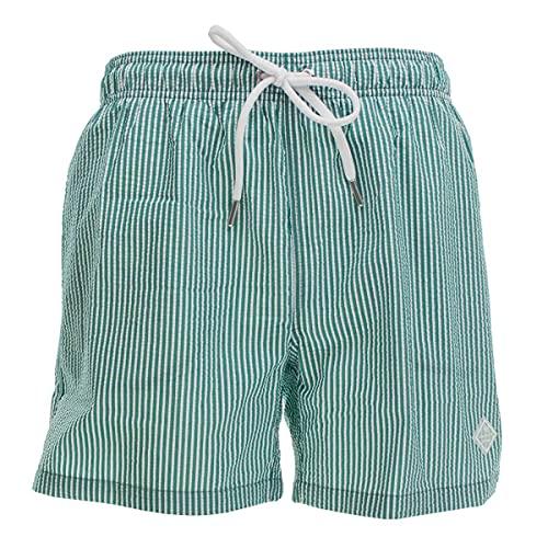 GANT Herren Badeshorts Badehose Seersucker Swim Shorts, Größe:XXL, Farbe:Grün(336 Lush Green)