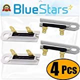 3392519 Dryer Thermal Fuse - Replacement Part by BlueStars - Exact Fit for Whirlpool Kenmore - Replaces 3388651 694511 80005 WP3392519VP - PACK OF 4