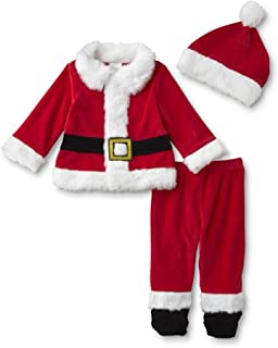 Little Wonders 婴儿圣诞夹克,裤子和帽子 - 圣诞老人婴儿 6-9 个月