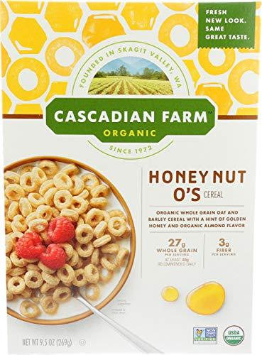Cascadian Farm Organic Cereal, Honey Nut O's, 9.5 Oz