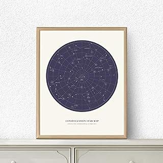 Moda Pintura Lienzo Constelación Mapa Universo Pintura Al Óleo Cuadro Galaxy Regalo Impresión Moderno Minimalista Cartel Casa Habitación Arte De La Pared Decoración Pinturas 60 * 90cm