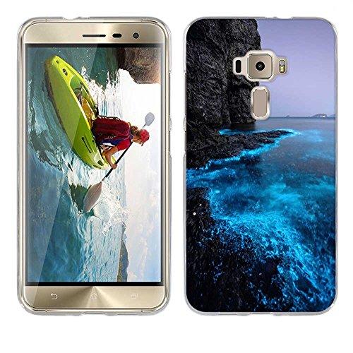 FUBAODA für Asus ZenFone 3 ZE552KL Hülle Hülle, [Fluoreszierende Küste] Ultra Dünn Handyhülle Cover Soft Premium-TPU Durchsichtige Schutzhülle Backcover Slimcase für Asus ZenFone 3 ZE552KL 5.5inch