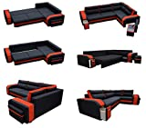 Mirjan24 Ecksofa Assan, Eckcouch mit Bettkasten und Schlaffunktion, Couch Couchgarnitur, Design Schlafsofa, Polsterecke (Ecksofa Rechts, Inari 100 + HC51) - 3