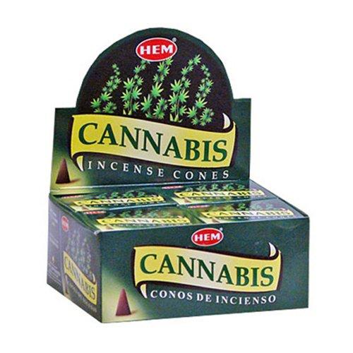 Hem Precious Incienso de Conos de Cannabis – 4 Paquetes, 10 Conos por Paquete