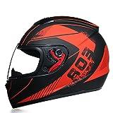 Casco Motocicleta Bluetooth Modular Full Face Casco,Integrado ECE Certificación dot Seguridad Estándar-Cara Completa Racing Casco de La Motocicleta General G,L