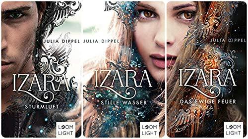 Preisvergleich Produktbild Geschenkidee 3 Bände der Izara Reihe von Julia Dippel 1. Das ewige Feuer & 2. Stille Wasser & 3. Sturmluft