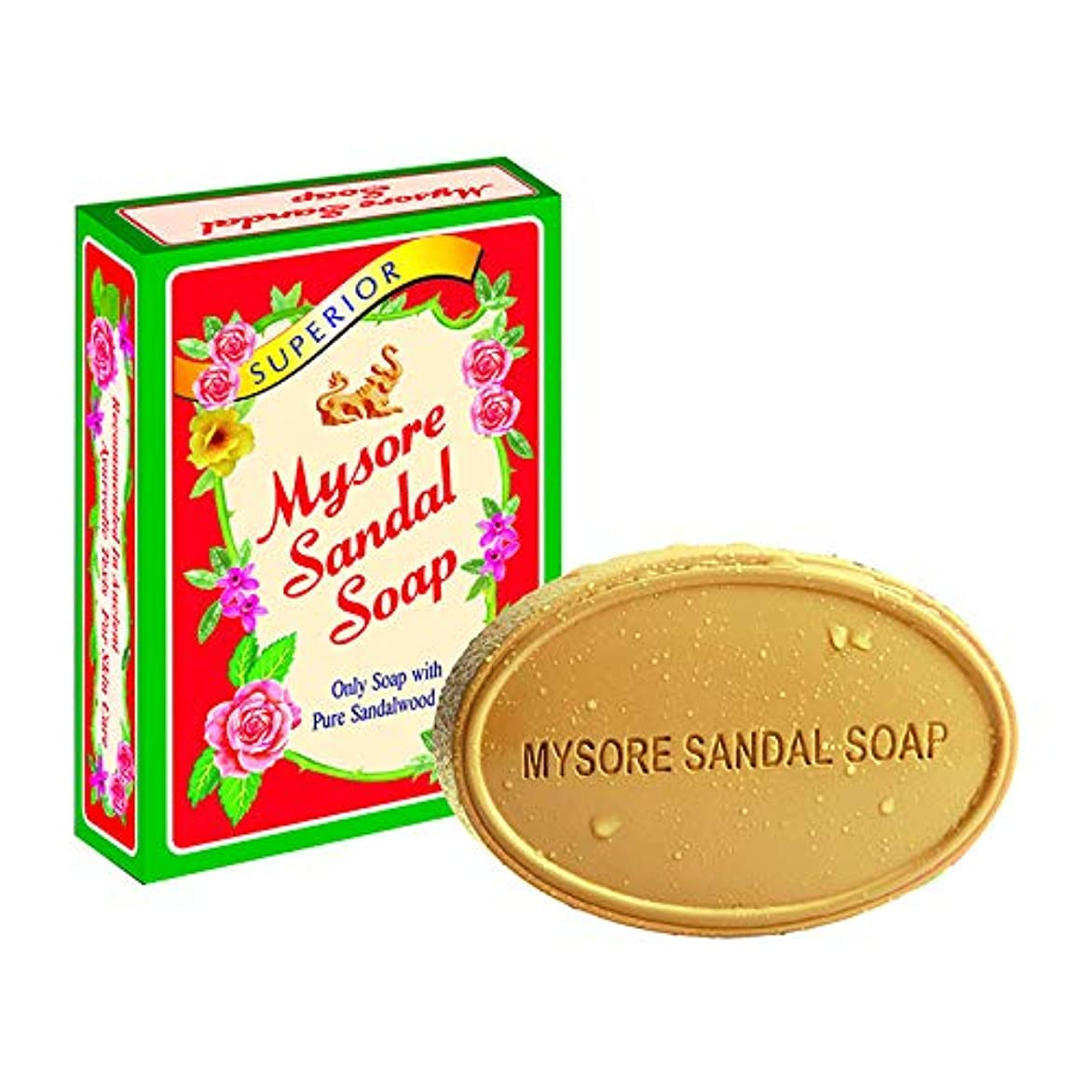 影響するポンペイ粘着性Mysore Sandal Soap 75?gm