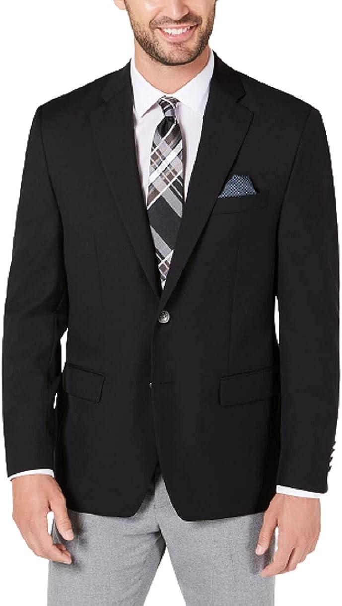 Lauren Ralph Black Classic-fit Ultraflex Stretch Suit Jacket, US 44R