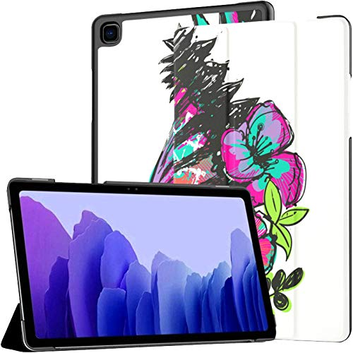 Funda para Tableta Samsung A7 Diseño de Camiseta Zebra Tropical Flowers Funda para Samsung Galaxy Tab A7 10.4 Pulgadas Funda Protectora de liberación 2020 Funda Samsung Galaxy A7 Funda para Tableta