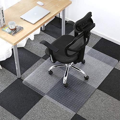 KINLO Bodenschutzmatte 70x120cm PVC Stuhlmatte Abriebfest, Rutschfest, Schlagfest und Kratzfest Stuhlunterlage für Teppich, teppichboden Mit Ankernoppen
