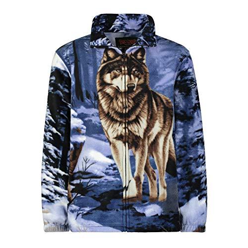 Men's Women's Sweater Jacket Full Zip Fleece Wolf Wildlife Sweatshirt Wildkind