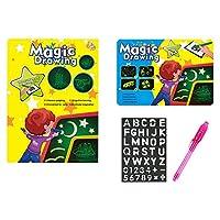 Noblik A3教育玩具描画ボードタブレットグラフィティLED発光魔法 ライトファン 1個