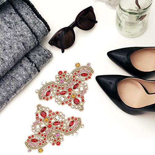 HEEPDD 2 unids Rhinestone Crystal Applique DIY Coser en Faux Pearl Patch para Zapatos Bolsos Sombreros Ropa Accesorios de la joyería(# 5)