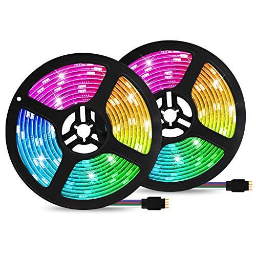 LED Streifen Set 10M Alexa Wifi Strip Smart RGB Strip Lichtleiste Smart WiFi Kontroller steuerbar via App LED RGB Bänder Lichterkette Wasserdicht