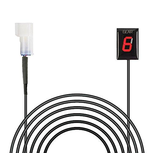 IDEA para Kawasaki Plug & Play Indicador de engranaje de motocicleta a prueba de agua Pantalla LED Alambre Parte trasera Outle (Rojo/Modelo 2003-2014)