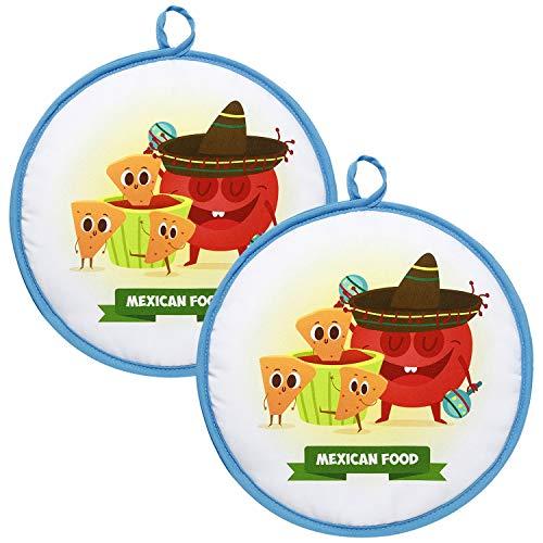 Generie Tortilla-Wärmer 30,5 cm isolierter Stoffbeutel | Mikrowelle Tortilla-Wärmer Tasche für Mais und Mehl | Großer Tortilla-Wärmer für bis zu einer Stunde mikrowellengeeignet | Tortilla-Wärmer