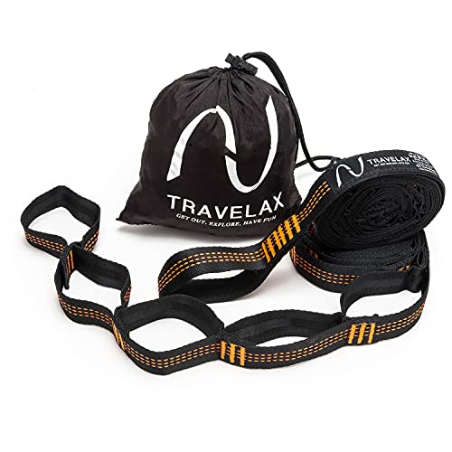 Travelax Sistema de Fijación para Hamaca garantiza una Sujeción Rápida y Segura, 22 Lazos