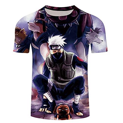 cyxb T-Shirts Regalos para Camiseta Padre e Hijo,Naruto 3D Imprimir Ocio Hombres camiseta-Xt261_XXL
