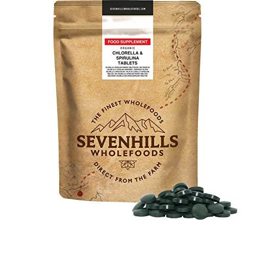 Sevenhills Wholefoods Bio Chlorella y Spirulina Tabletas 500g