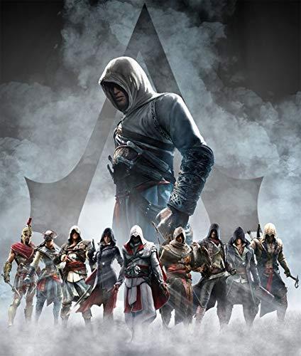 FFXXCC 5D Assassin's Creed Digitales Malen-nach-Zahlen-Set, 3D DIY Malen nach Zahlen für Erwachsene, Acryl-Leinwand, Ölgemälde Kunst Poster für Wanddekoration (40 x 50 cm)