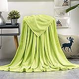 AiShengHuoAcc Manta para Cama,Manta de sofá,Manta para niños,Manta para Mascotas,Manta Transpirable (Verde, 130x150 cm)