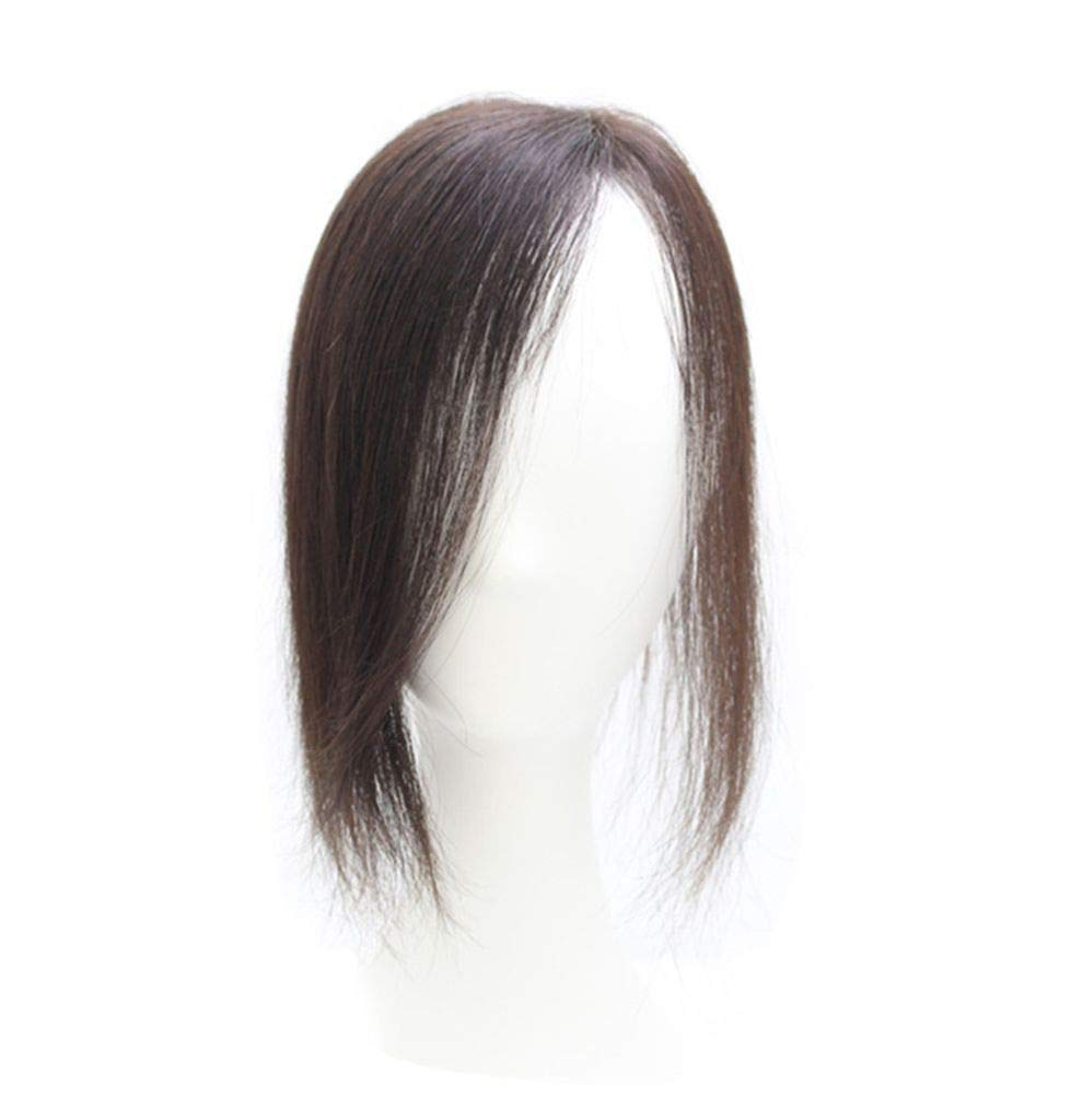 Remy Human Hair Hand Limited time sale Tied Mono for Women Left Max 85% OFF Toppers with