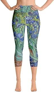 Irises, Vincent Van Gogh, Yoga Capri Leggings