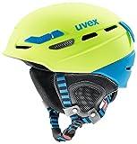 uvex Unisex– Erwachsene, p.8000 tour Skihelm/Kletterhelm/Radhelm, lime-blue mat, 55-59 cm
