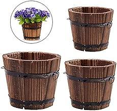 Best wood flowers pots Reviews