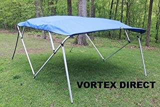 Vortex Royal Blue Square Tube Frame 4 Bow Pontoon/Deck Boat Bimini TOP 10' Long, 91-96 Wide 1 to 4 Business Day DELIVERY