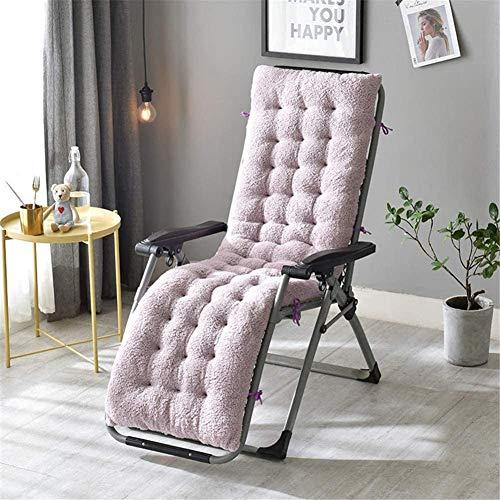Zonnestoel Kussens Pad Fleece Lounge Chair Kussen Portable Garden Patio dikke gewatteerde Bed Recliner Relaxer Bench Seat Cover for Travel Vakantiehuizen,Purple,160x50x12