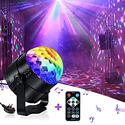 Disco Light, iToncs Sound Activated Party Light with Remote Control Disco Ball Lights for Kids