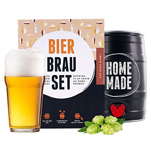 Geschenk für Männer | Bierbrauset zum selber Brauen | IPA im 5L Fass | In 1 Woche gebraut | Mach dein eigenes Craft Beer mit Braufässchen