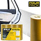 Apulat Garage Wall Protector – 25% Wider Than Any Other Products - Guards Your car Doors and Garage Walls Against Scratches - 1/4' Thick - 4 Strips - White – Reinforced Adhesive Bumpers