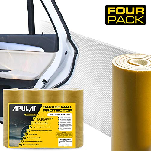 Apulat Garage Wall Protector – 25% Wider Than Any Other Products - Guards Your car Doors and Garage Walls Against Scratches - 1/4