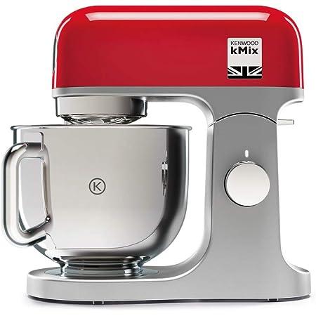 Kenwood Kmix Kmx750rd Robot De Cocina Multifunción 1000 W Bol Metálico De 5 L Con Asa Gancho Para Amasar Varillas Mezclado K Acero Inoxidable 6 Velocidades Color Rojo Amazon Es Hogar
