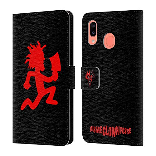 Head Case Designs Officially Licensed by Insane Clown Posse Hatchetman Key Art Leather Book Wallet Case Cover Compatible with Samsung Galaxy A20 / A30 2019
