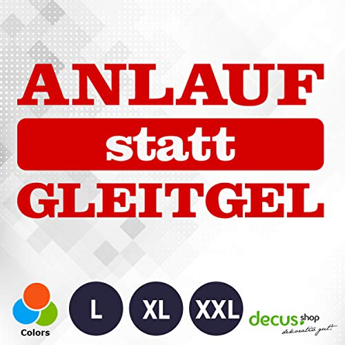Decus ANLAUF STATT GLEITGEL L 1544 (rot) // Sticker OEM JDM Style Aufkleber