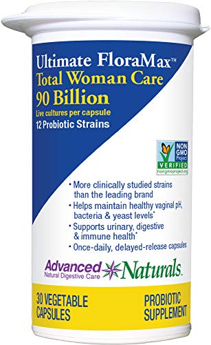 Advanced Naturals Ultimate FloraMax Total Woman Care, 90 Billion CFU, 30 Caps (Package May Vary)