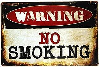 dingleiever-Warning NO Smoking Metal Sign Wall Decor Garage Shop Bar Living Room Wall Sticker Painting