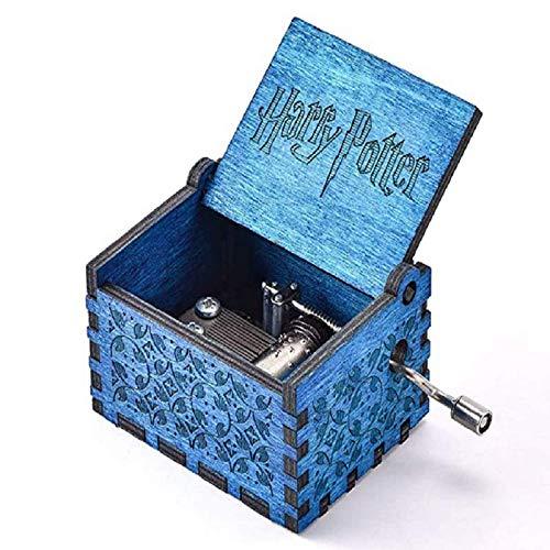 Carillon In Legno, Vintage Laser Inciso Carillon, Classico Manovella Intagliato A Mano Carillon, Piacevole Melodia Music Box Per San Valentino, Compleanno, Capodanno (Tema Harry Potter, Bule A08)