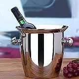 Cubo de Hielo Cubo de Hielo Aislado Contenedor Bar Suministros para Fiestas Bebidas Cerveza Vino Champagne Enfriador Acero Inoxidable con asa de Transporte