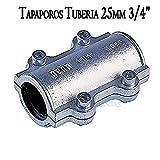 TAPAPORO 3/4' abrazadera acero de reparación para tuberia 25mm metal. Utilizada para reparar grietas en las tuberías de polietileno, acero y metal.
