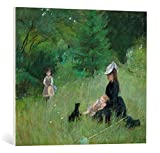 Kunst für Alle Cuadro en Lienzo: Berthe Morisot Dans un Park - In a Park 1876 Canvas Mu - Impresión artística, Lienzo en Bastidor, 75x65 cm