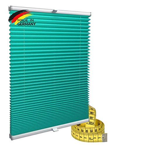 Gardinen21 Plisseerollo ohne Bohren   Plissee-Klemmfix   Plissee 50x100 für Türen & Fenster   Sonnenschutz, Sichtschutz für Fenster, Blickdichte Rollos
